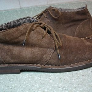 MEN'S GOTCHA SAHARA CHUKKA LINED SUEDE SHOES SZ 12